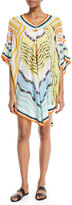 Missoni Mare Keyhole-Front Short Printed Caftan Coverup