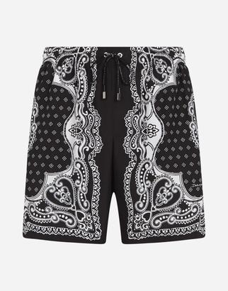 Dolce & Gabbana Medium Swimming Trunks In Bandana Print