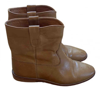 Isabel Marant Cluster Camel Leather Ankle boots