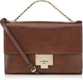 Jimmy Choo Rebel Soft S Ebony Natural Vegetable Dyed Leather Shoulder Bag