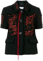 Maison Margiela jacquard patch bouclé jacket