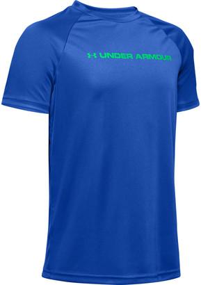 Under Armour Boys' UA Tech Wordmark Slash Short Sleeve