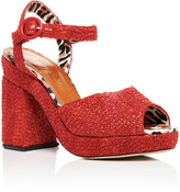Charlotte Olympia Red Raffia Into the Wild Heels
