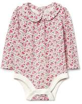 Gap Floral peter pan collar bodysuit