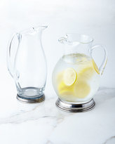 Tall Glass & Pewter Pitcher
