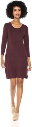 Daily Ritual Amazon Brand Women's Jersey 3/4-Sleeve Scoop-Neck T-Shirt Dress