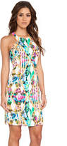Milly Hypnotic Print Racerfront Dress