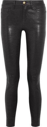 Frame Le Skinny Stretch-leather Pants - Black