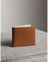 Burberry Leather Folding Coin Wallet, Brown