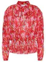 Balenciaga Blouse plissée et imprimée