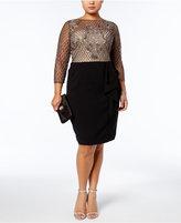 Adrianna Papell Plus Size Embellished Lattice Dress