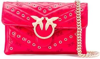 Pinko Eyelet Detail Shoulder Bag