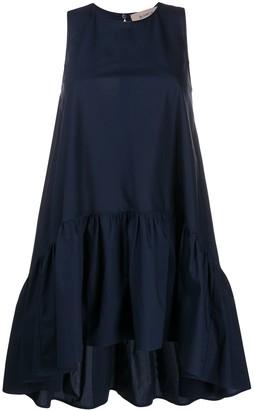Blanca Vita Sleeveless Mini Ruched Dress