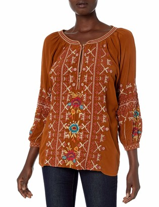 3J Workshop by Johnny was Women's Silk Blouse with Embroidery and tie in Back