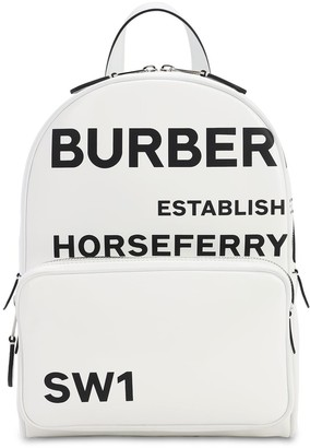 Burberry Tb Printed Logo Coated Canvas Backpack