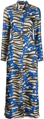 813 Floral-Print Silk Dress