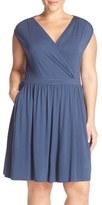 Tart Plus Size Women's 'Valentia' Surplice Jersey Dress