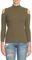 1 STATE 1.State Cold Shoulder Mock Neck Sweater