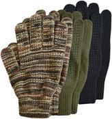 JCPenney QuietWear 3-pk. Grip Dot Gloves