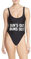 Private Party Women's 'Sun's Out Buns Out' One-Piece Swimsuit