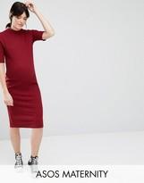Asos Bodycon Midi Dress in Rib