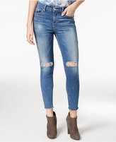 William Rast Ripped Blue Smudge Wash Skinny Jeans