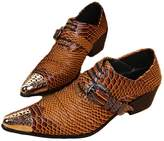 Cover Plus US Size 5-12 New Alligator Print Leather Formal Office Dress Mens Oxford Shoes
