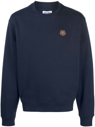 Kenzo Tiger embroidered crew neck sweatshirt