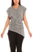 Rogan Frey Dress in Striped Heather Grey