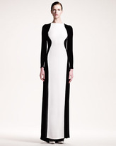 Stella McCartney Colorblock Stretch Gown
