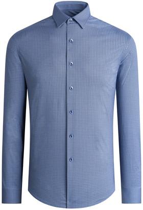 Bugatchi Men's Cotton Tech Long-Sleeve Sport Shirt
