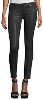 Paige Verdugo Coated Ultra-Skinny Jeans, Charcoal