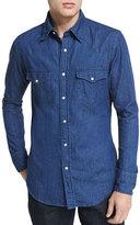 Tom Ford Western-Style Denim Shirt, Blue