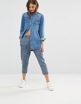 Noisy May Pin Stripe Ankle Length Pant