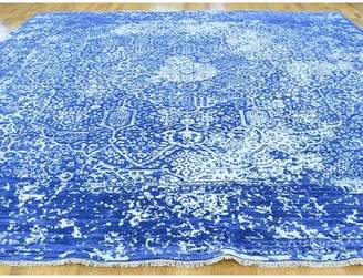 Clayton Isabelline One-of-a-Kind Persian Broken Design Handwoven Blue Wool/Silk Area Rug Isabelline