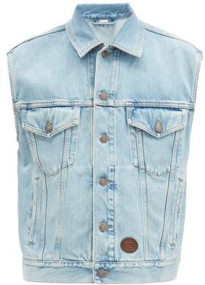 Gucci Sleeveless Denim Jacket - Light Blue