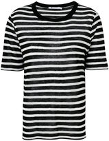 Alexander Wang striped top - women - Cotton/Viscose - XS