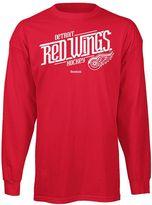 Reebok detroit red wings custom hockey tee