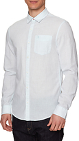 Original Penguin Long Sleeve Slub Linen Feeder Shirt