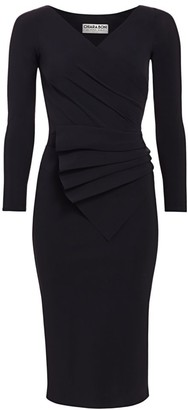 Chiara Boni Kaya Pleated Detail Sheath Dress