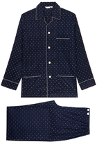 Derek Rose Nelson 53 Navy Pyjama Set