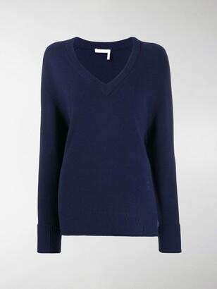 Chloé V-neck cashmere jumper