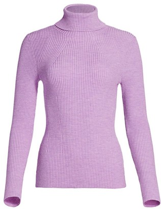 3.1 Phillip Lim Rib-Knit Stretch Wool Turtleneck Sweater