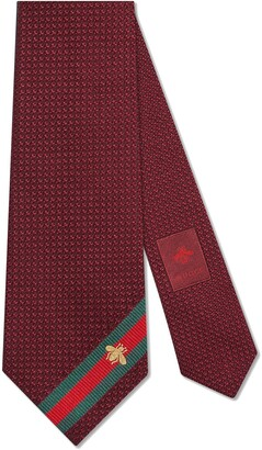 Gucci Silk tie with bee Web