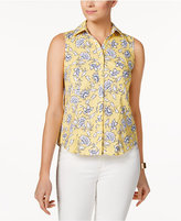 Charter Club Petite Printed Shirt, Only at Macy's