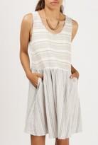 Azalea Striped Scoop Neck Dress