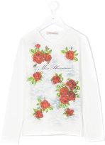 Miss Blumarine floral print sweatshirt