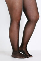 Yours Clothing Black & Silver Glitter Tights