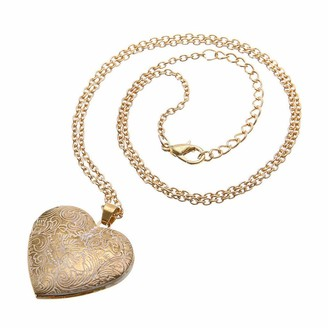 Hink Home HINK-Home Necklaces & Pendants Retro Heart-Shaped Necklace Locket Mini Photo Frame Box Pendants for Women Charm