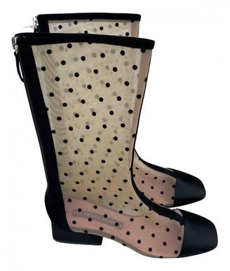 Les Petits Joueurs Black Suede Boots